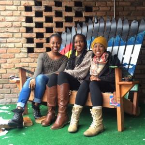 Doyne girls in Aspen