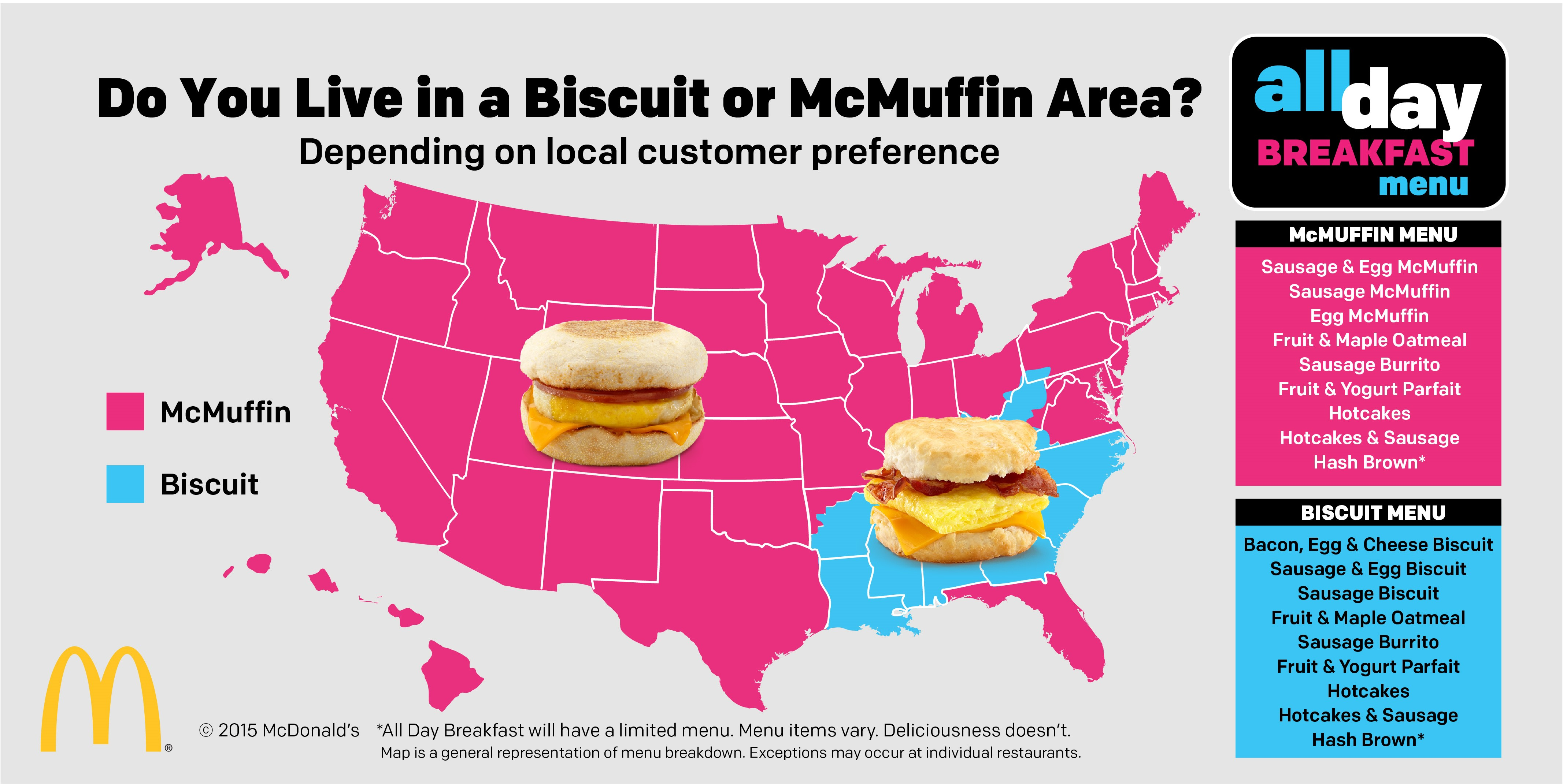 All Day Breakfast map