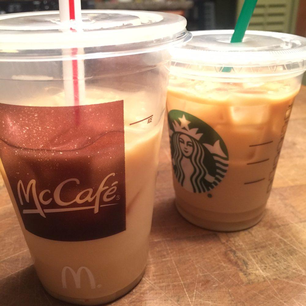 McCafe iced vanilla latte