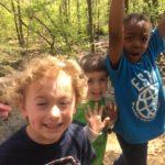 Kids enjoying the hike