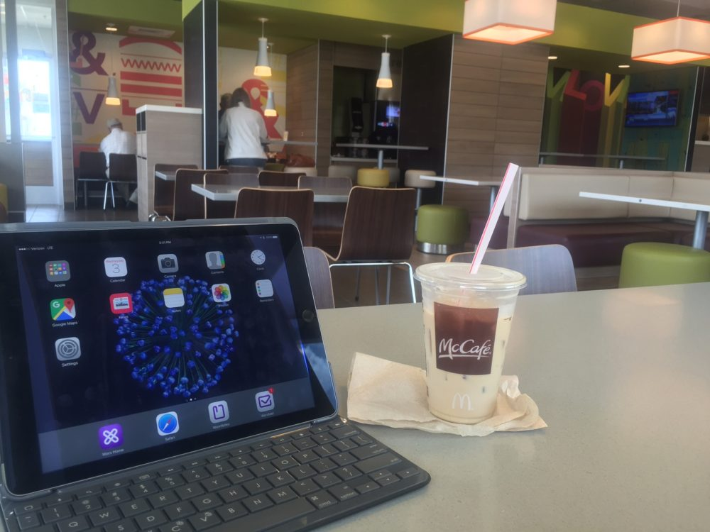 remote work at McDonald's