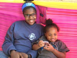 sisters in hammock