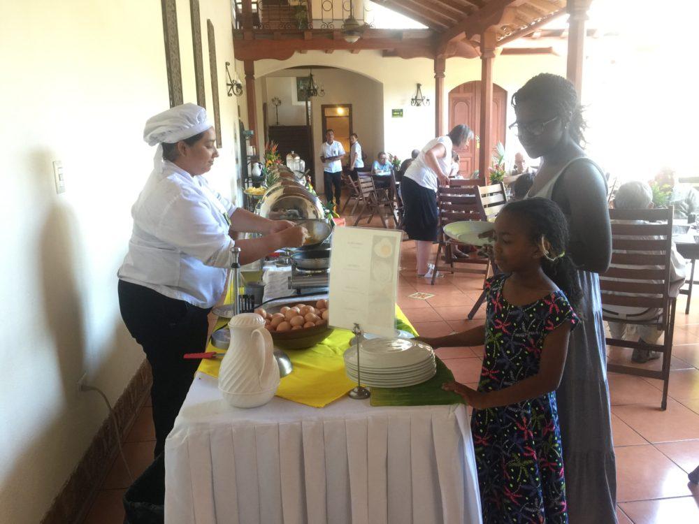 breakfast buffet at Hotel Plaza Colon
