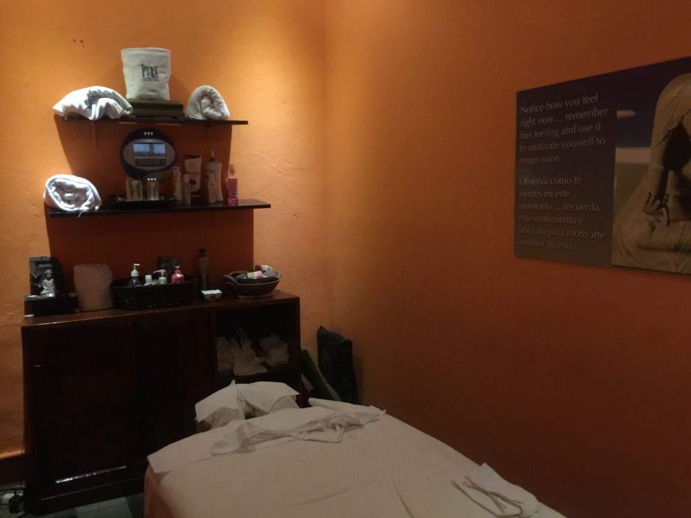 massage room at Pure Spa in Granada