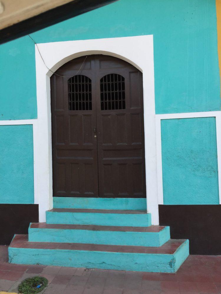 Granada Nicaragua turquoise door