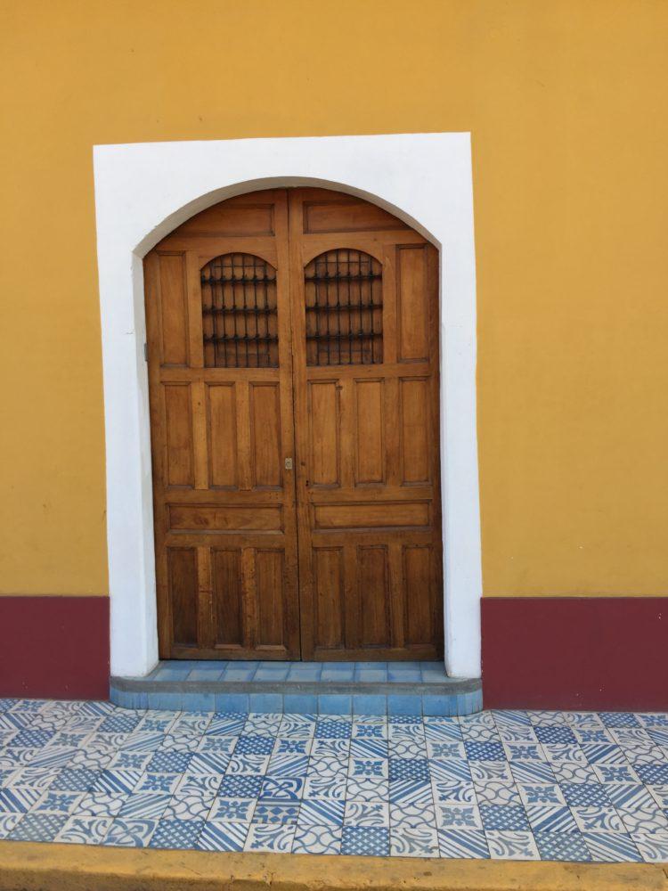 Granada Nicaragua gold door