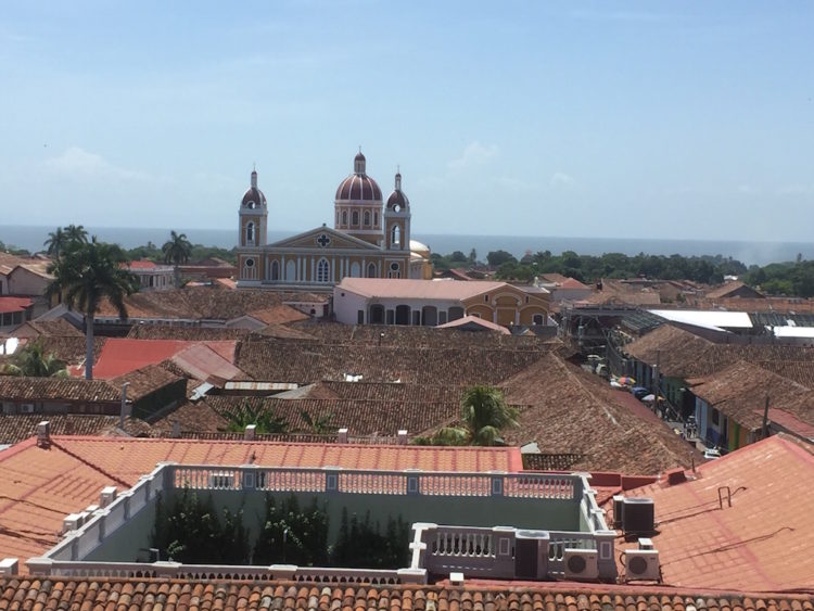 view of Granada from bell tower