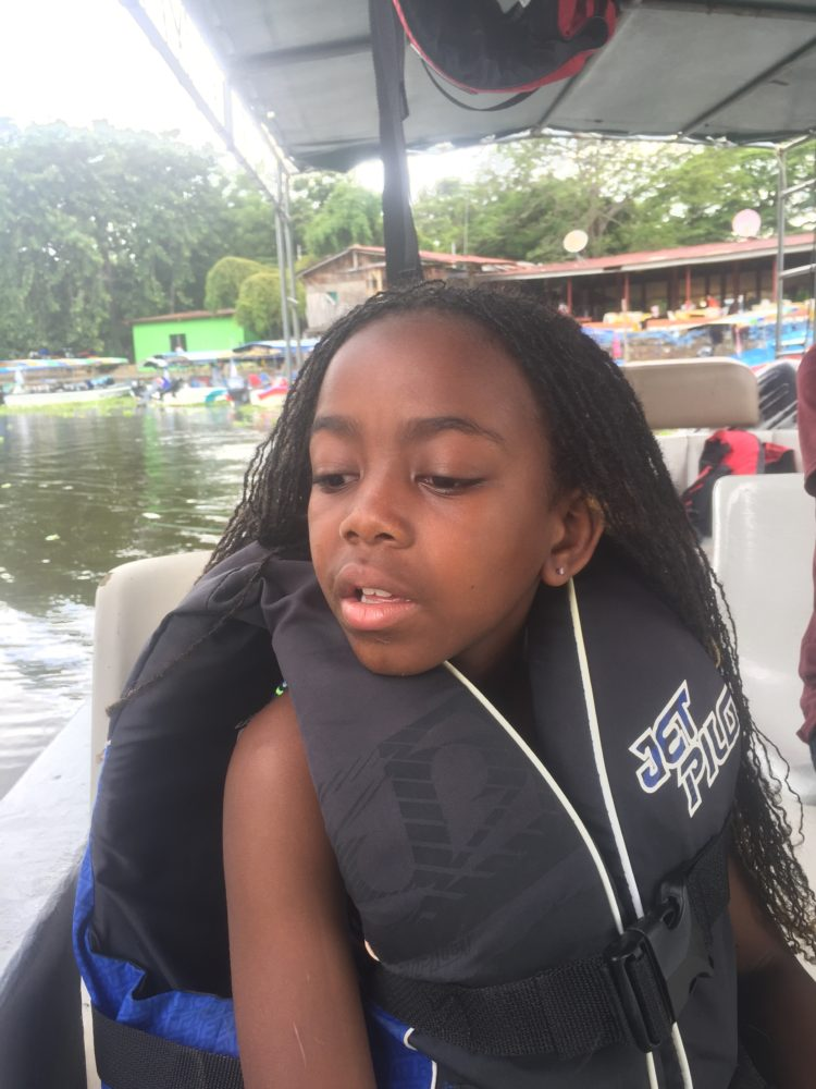 Maya on boat tour of Lake Nicaragua