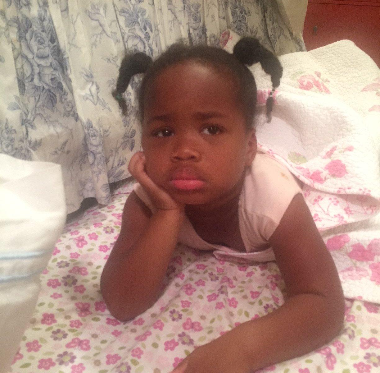 pouting toddler