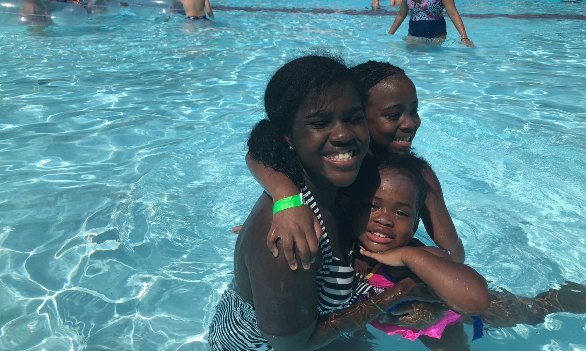 playing in wave pool